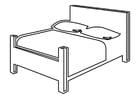 Dibujo para colorear cama doble