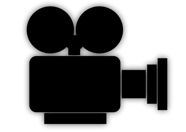 Dibujo Para Colorear Cámara De Cine Img 22949