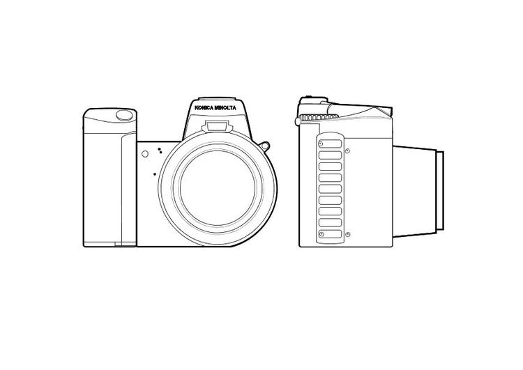 Dibujo para colorear Cmara de fotos  Img 10314