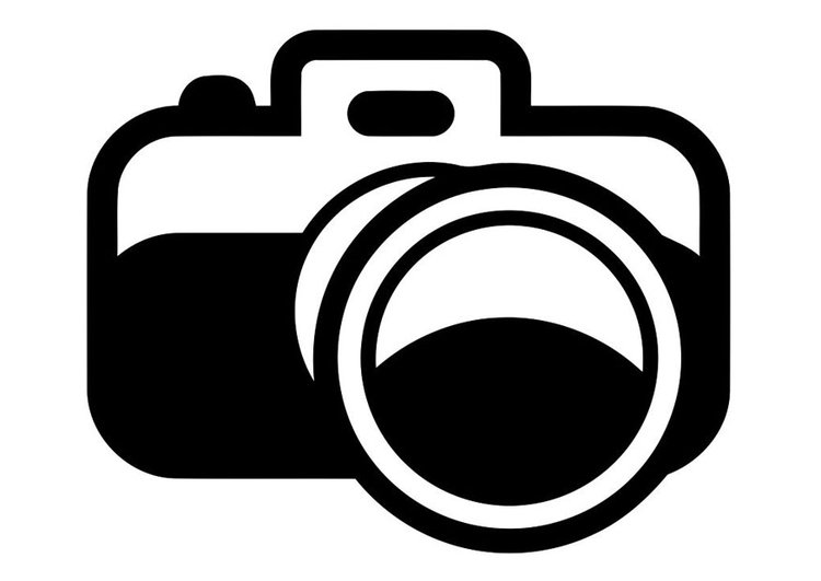 Dibujo para colorear cámara de fotos