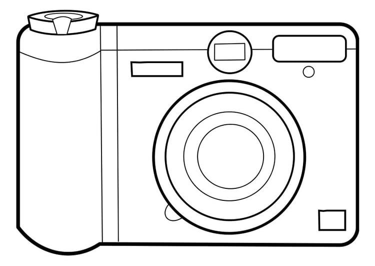Dibujo para colorear cmara de fotos  Img 22858