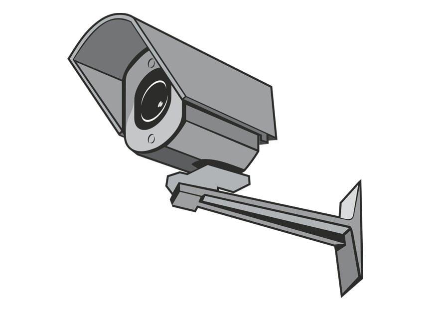 Dibujo para colorear cmara de seguridad  Img 26996