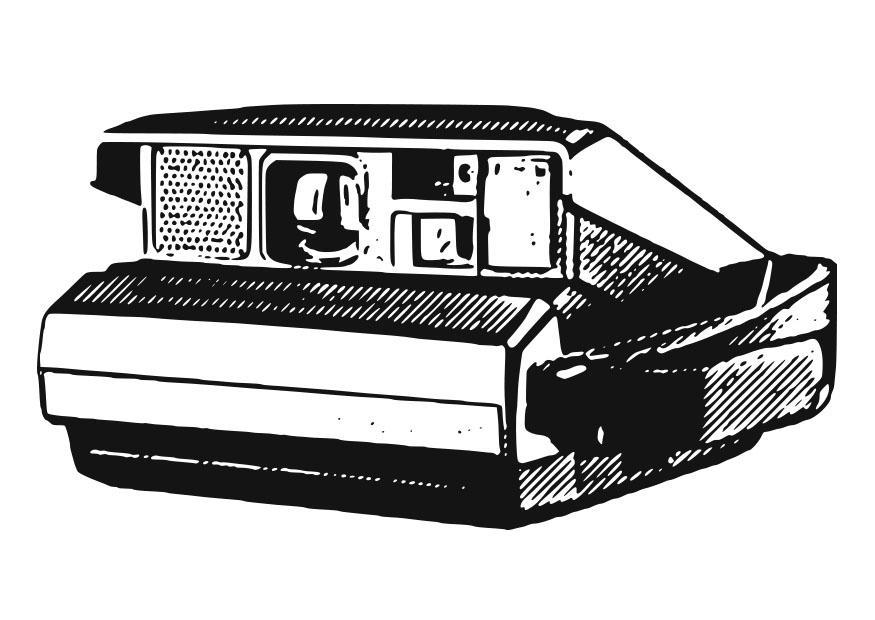 Dibujo para colorear cmara polaroid  Img 27104