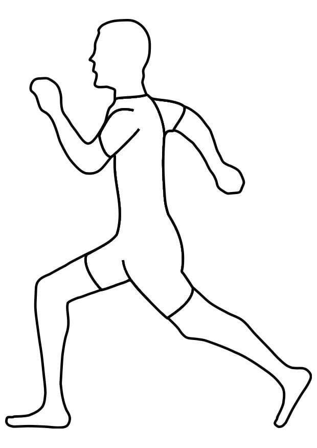 Dibujo para colorear caminar  Img 19311