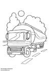 Dibujo para colorear Camión cisterna