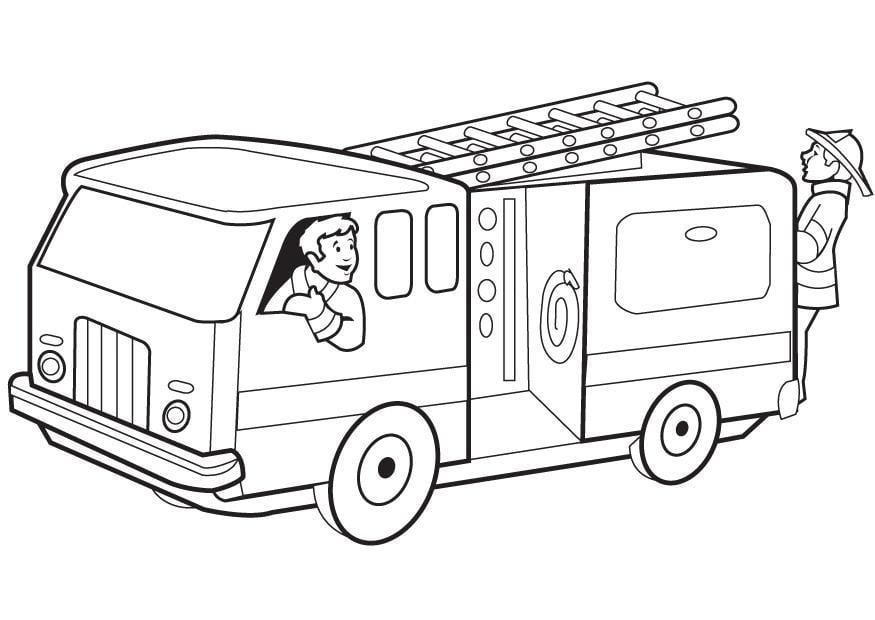 Dibujo para colorear Camion de bomberos Img 8168