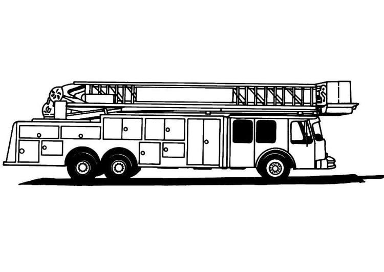 Dibujo para colorear Camion de bomberos - Img 8165