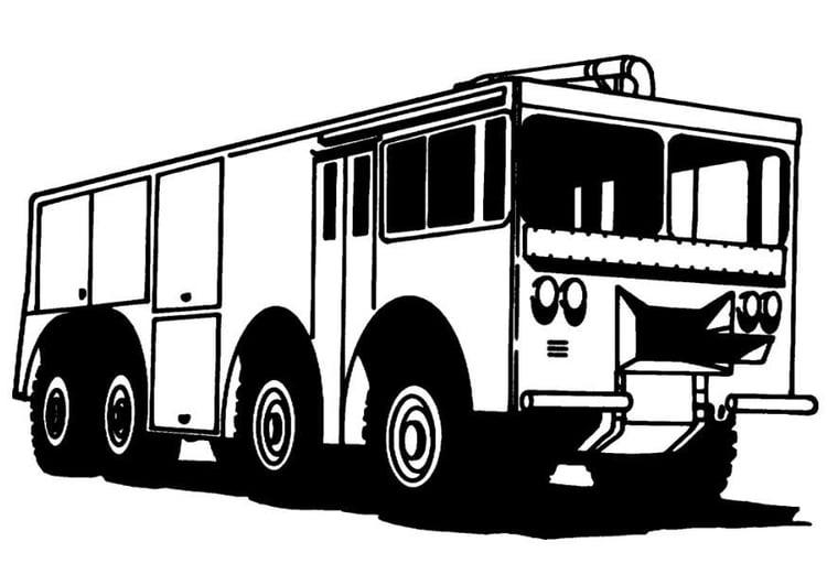 Dibujo para colorear Camion de bomberos - Img 8167