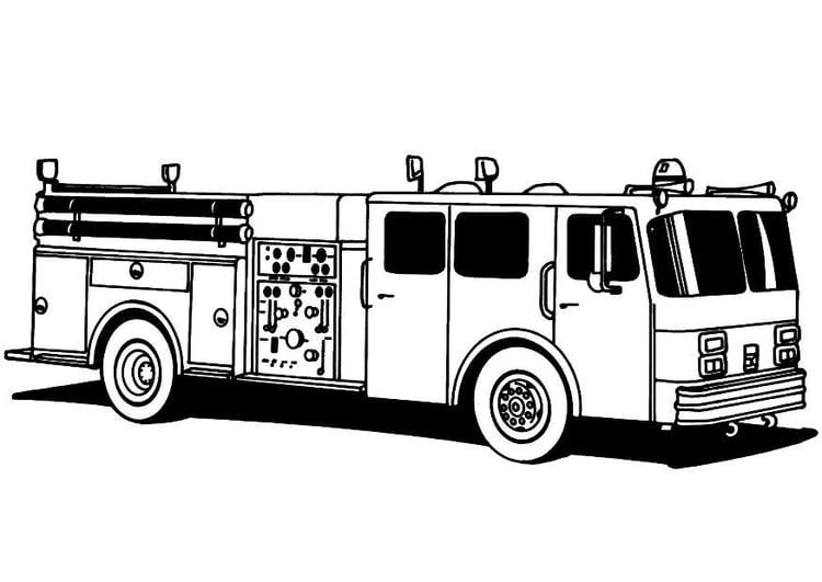 Dibujo para colorear Camión de bomberos - Img 8172