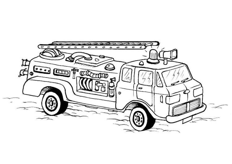 Dibujo para colorear Camion de bomberos - Img 8178