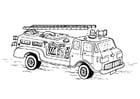 Dibujo para colorear Camion de bomberos