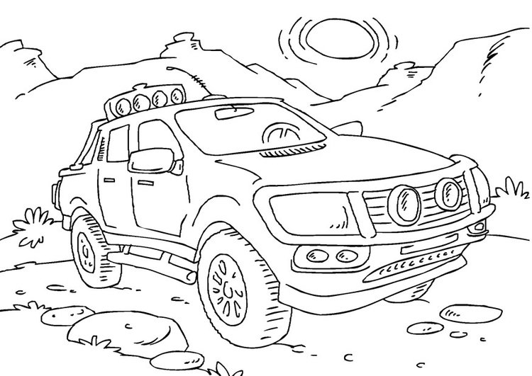 Dibujo para colorear camioneta pick up - Img 27166