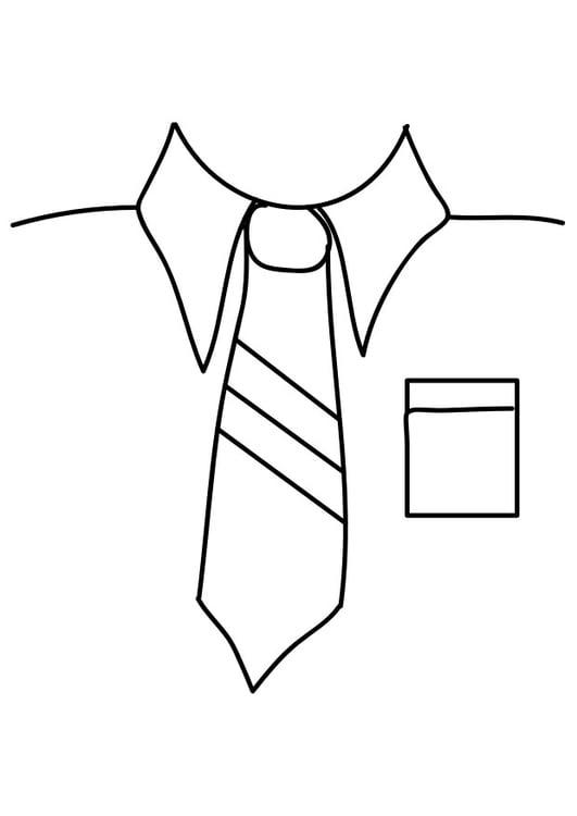 Dibujo Para Colorear Camisa Con Corbata Dibujos Para