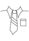Dibujo para colorear camisa con corbata