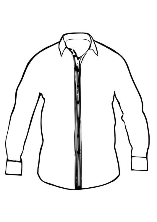 Dibujo para colorear camisa   Img 27410