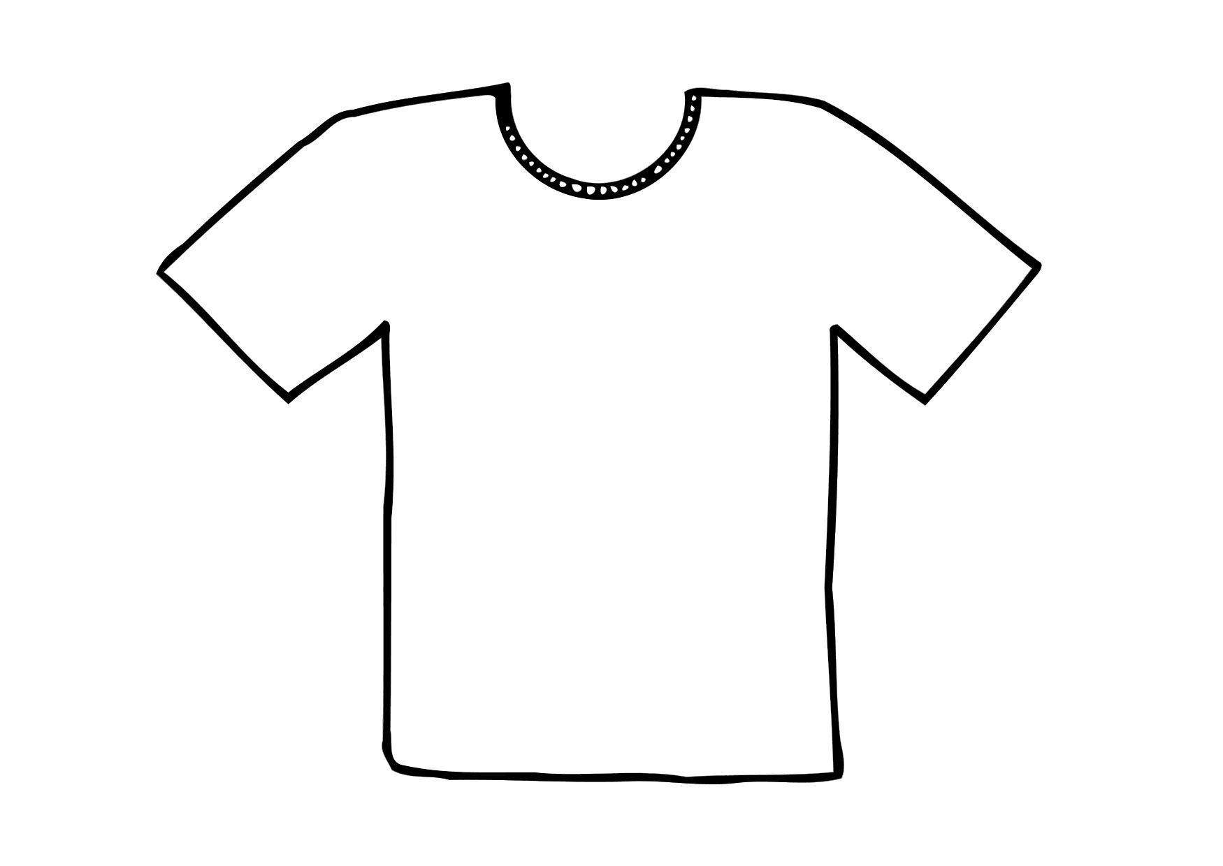 Dibujo para colorear Camiseta - Img 12295