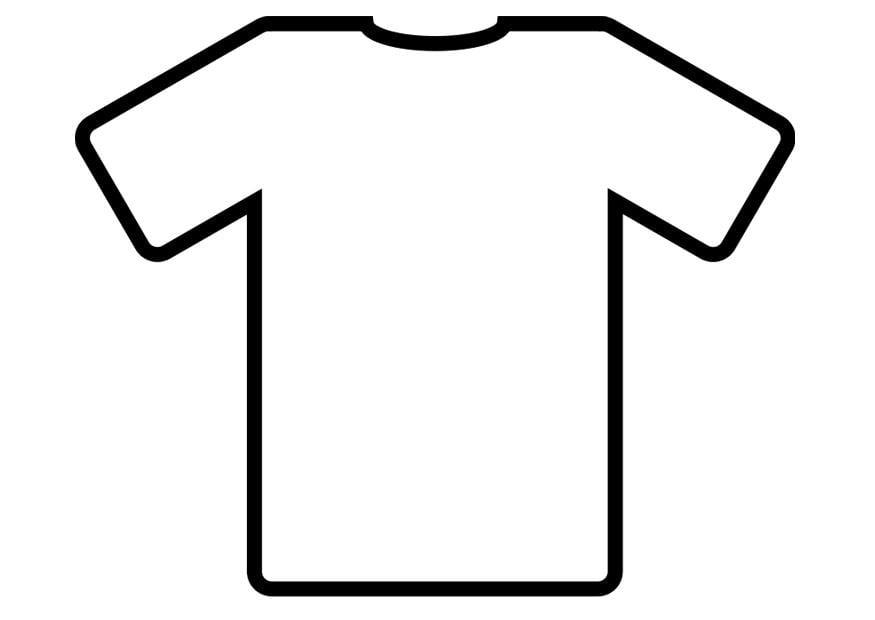 blank football jersey coloring page - dibujo para colorear camiseta img 19012