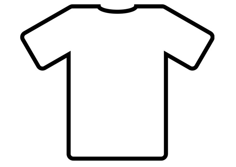 Dibujo para colorear camiseta - Dibujos Para Imprimir Gratis