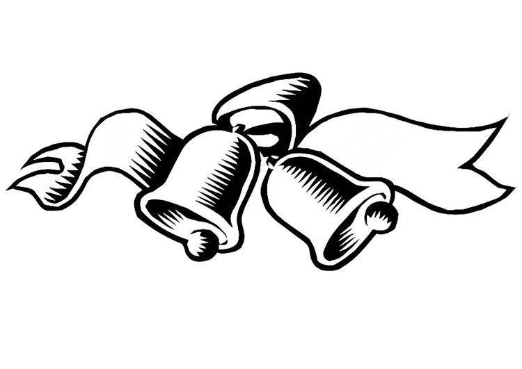 Dibujo para colorear campanas de navidad - Img 20328