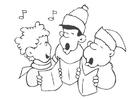 Dibujo para colorear canción de navidad