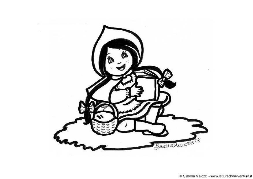 Dibujos De Caperucita Roja Para Colorear E Imprimir: Dibujo Para Colorear Caperucita Roja