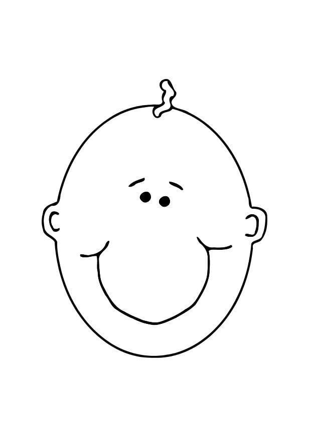 Dibujo para colorear Cara de beb  Img 11898