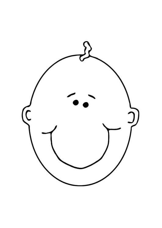 Dibujo para colorear Cara de bebé - Img 11898