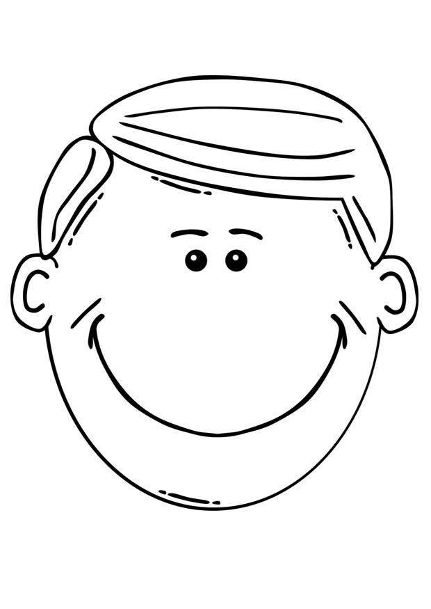 Dibujo para colorear cara de hombre   Img 17101
