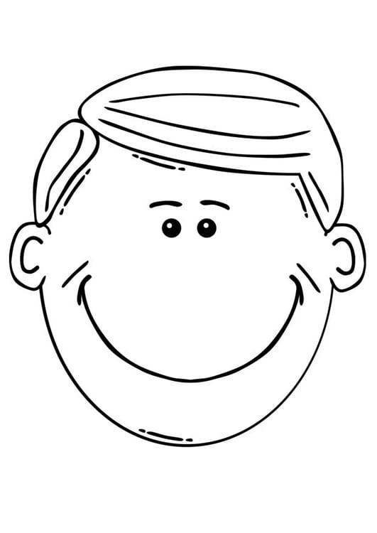 Dibujo para colorear cara de hombre - Img 17079