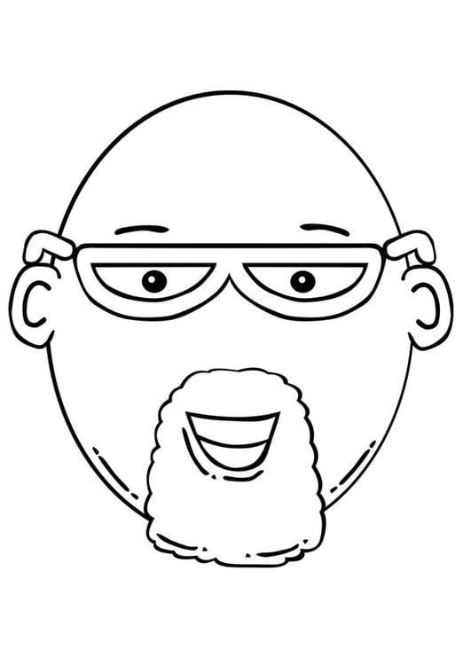 Dibujo para colorear cara de hombre - Img 17099