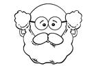 Dibujo para colorear cara de hombre
