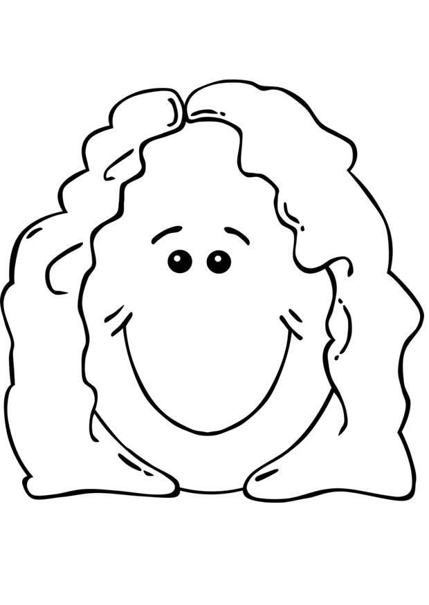 Dibujo para colorear cara de mujer  Img 17072