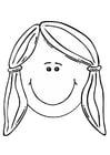 Dibujo para colorear cara de niña