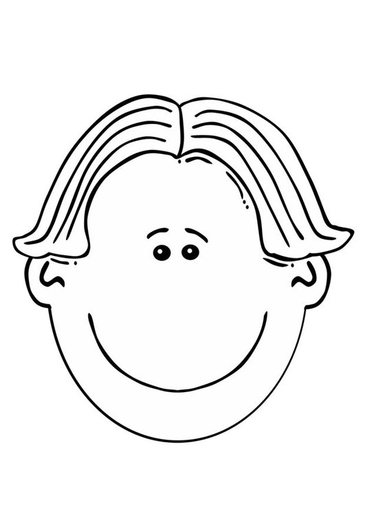 Dibujo para colorear cara de niño - Img 17071