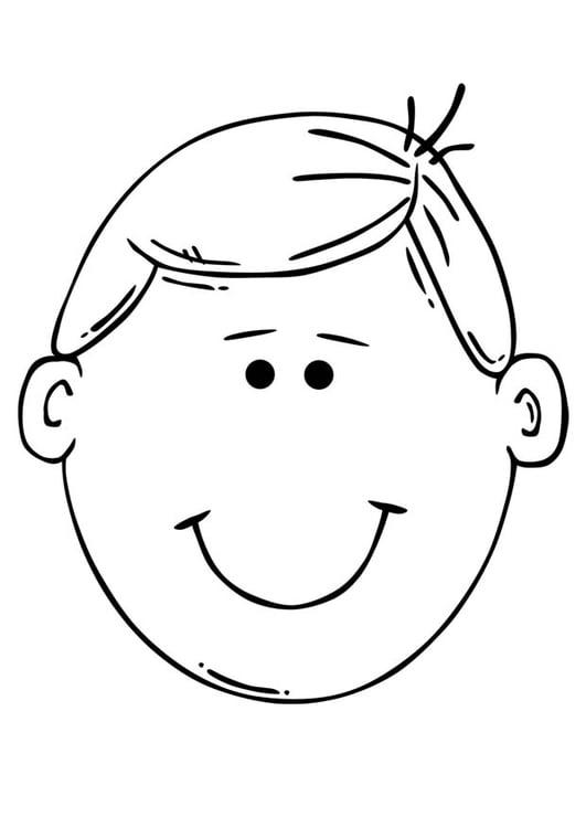 Dibujo para colorear cara de niño   Img 17098