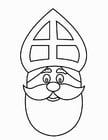 Dibujo para colorear Cara de San Nicolás