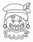 Dibujo para colorear Cara de Zwarte Piet