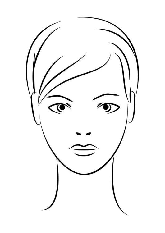 Dibujo para colorear cara - Img 29939