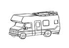 Dibujo para colorear Caravana