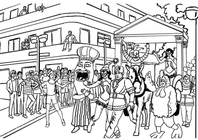 Dibujo Para Colorear Carnaval Img 8041