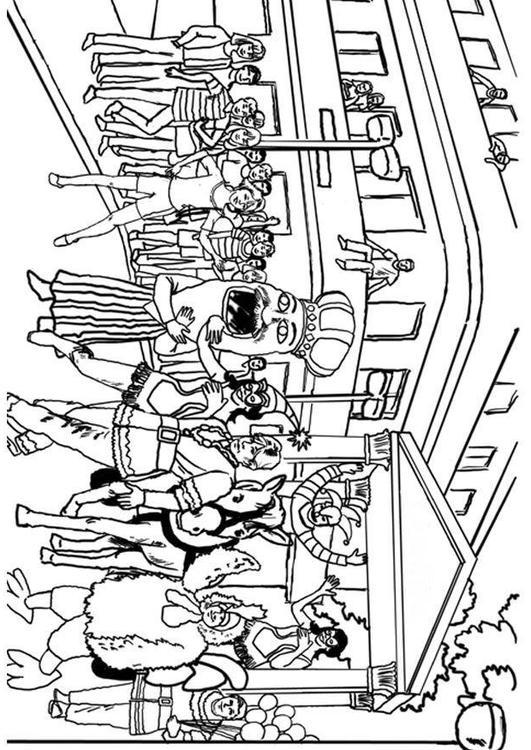 Dibujo para colorear Carnaval - Img 8041