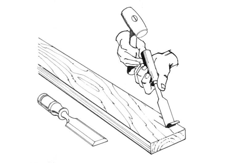 Dibujo Para Colorear Carpintero Con Cincel Img 18853