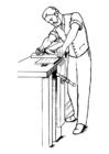 Dibujo para colorear carpintero