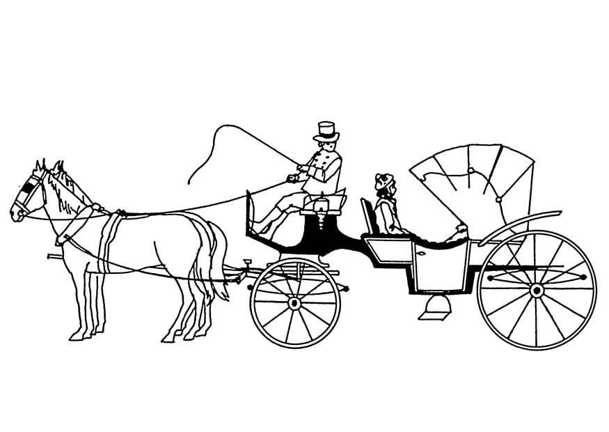 Worksheet. Dibujo para colorear carro de caballos  Img 18880