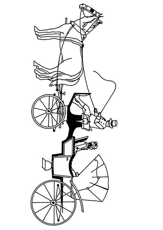 P Kleurplaat Paard Dibujo Para Colorear Carro De Caballos Dibujos Para