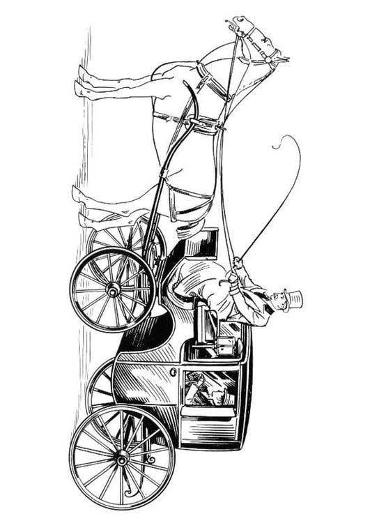 Kleurplaat Paard En Koets Dibujo Para Colorear Carroza Con Cochero Y Caballo Img 18830