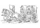 Dibujo para colorear Carroza del siglo XV