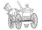 Dibujo para colorear carroza