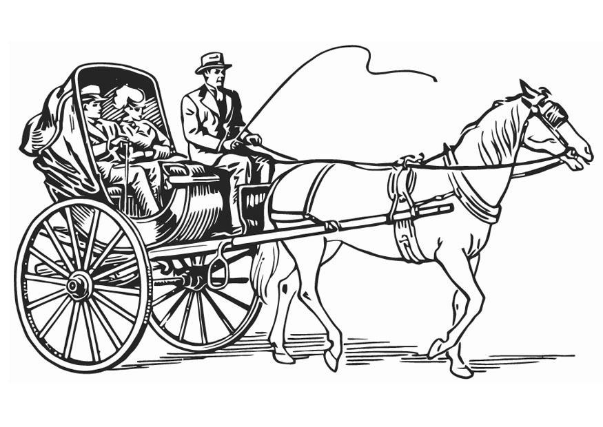 Dibujo para colorear Carruaje - Img 18767