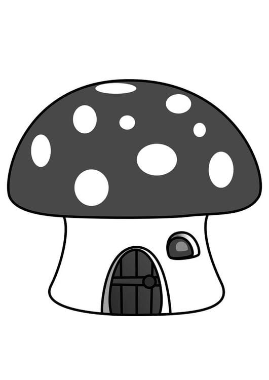 Dibujo para colorear casa de los pitufos - Img 29857